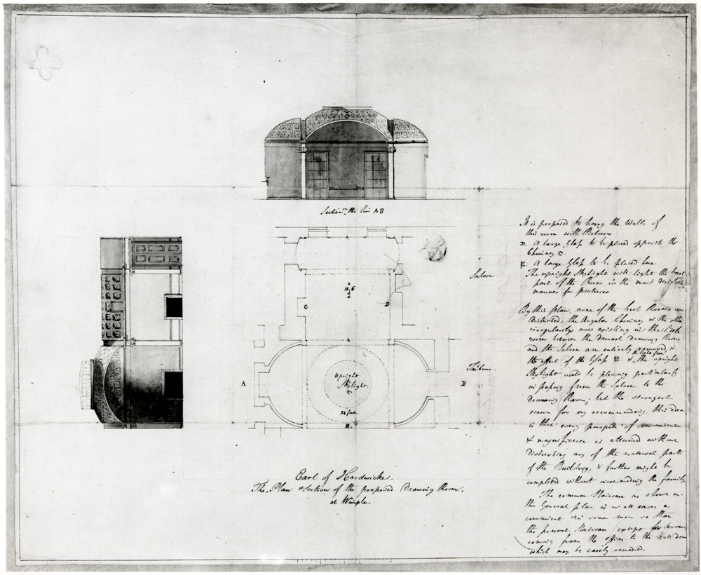 Drawn palace john soane Of of Room decoration from