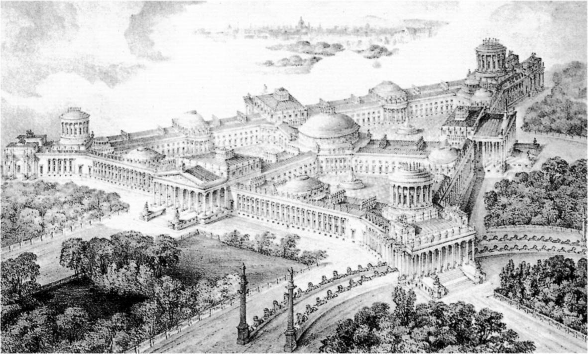 Drawn palace john soane New royal  Unbuilt/Unreal John