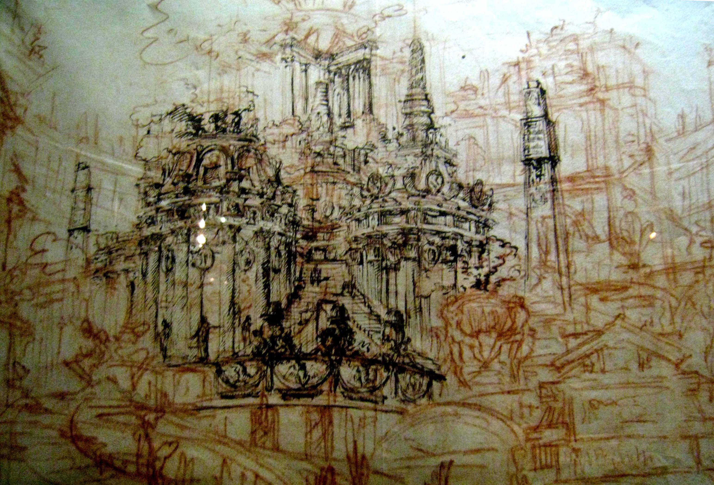 Drawn palace john soane Dacarc drawing 2 Page time