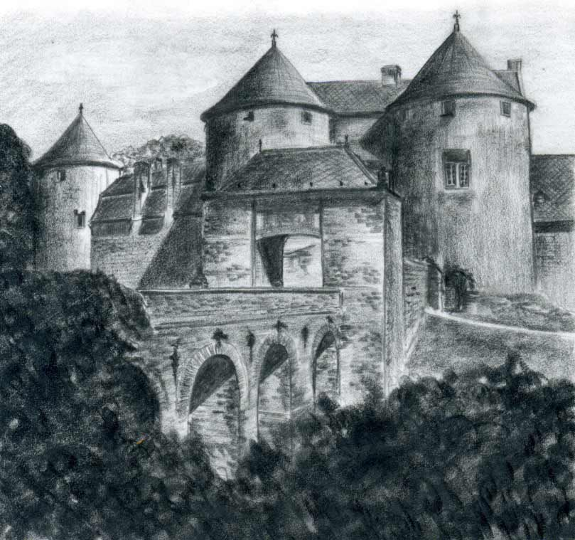 Drawn scenery castle Inspiration And Le Chateau Corroy