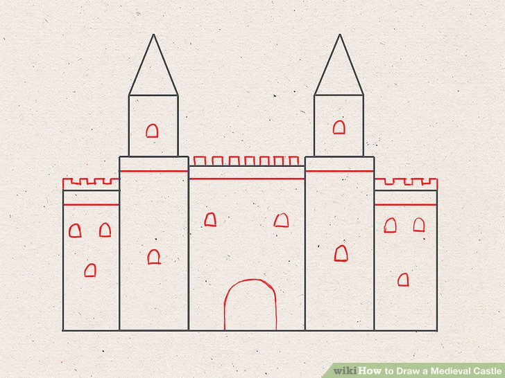 Drawn castle easy #5