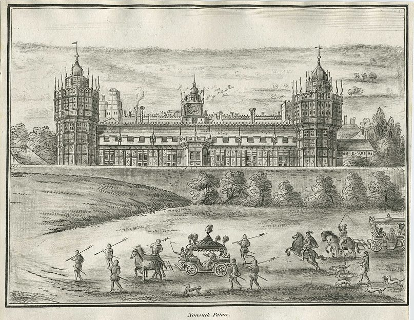 Drawn palace nonsuch And images Lysons for Environs