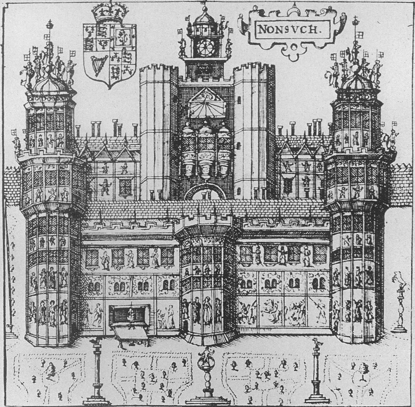Drawn palace nonsuch 1610 Speed's jpg Palace Map
