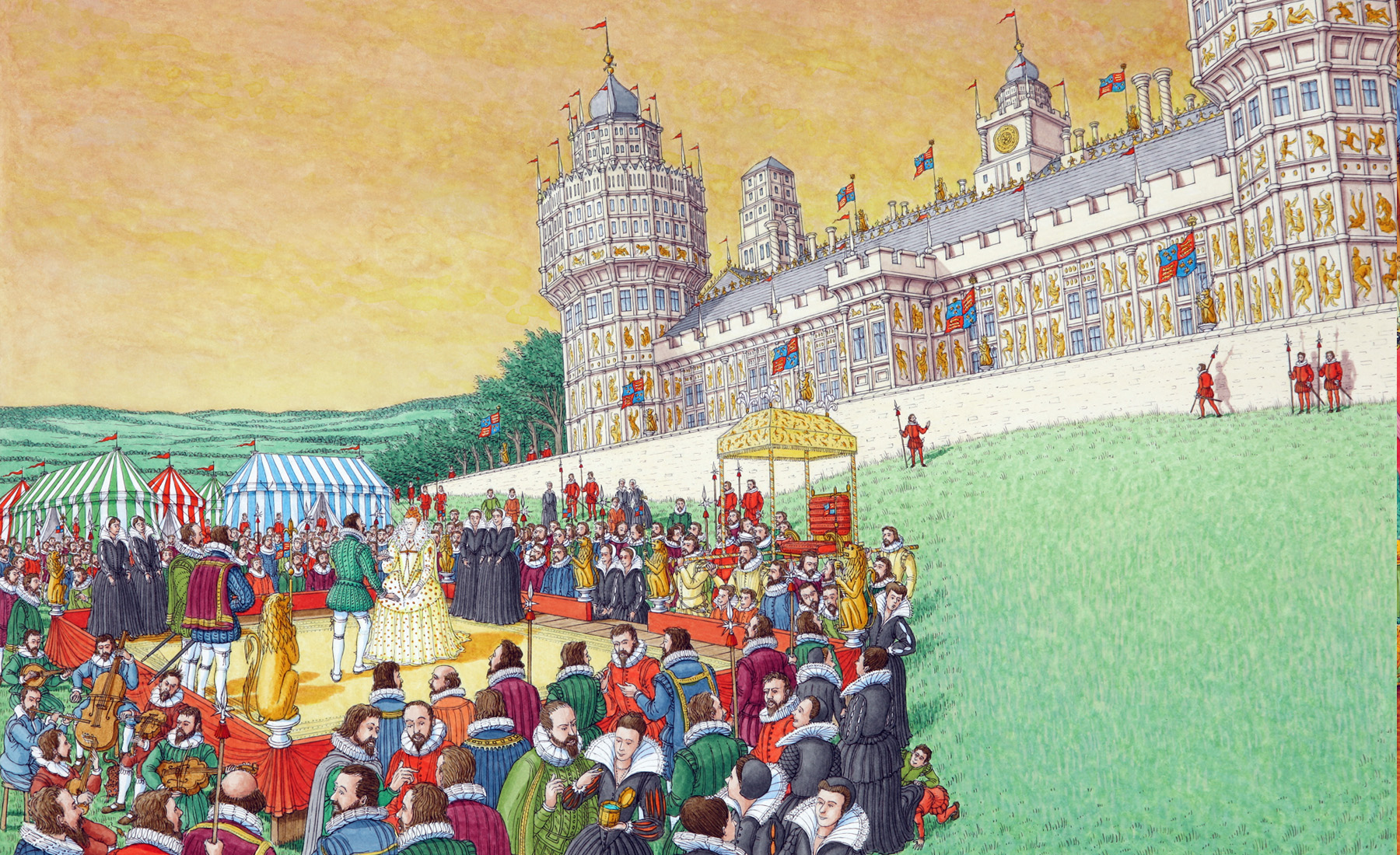 Drawn palace nonsuch Palace Nonsuch History Tudor Pinterest