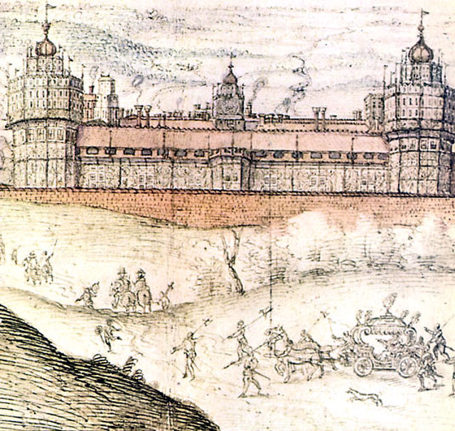 Drawn palace nonsuch A from Palace drawing Joris