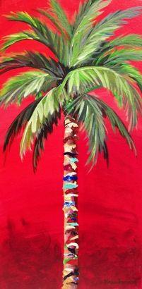 Drawn palm tree abstract #4