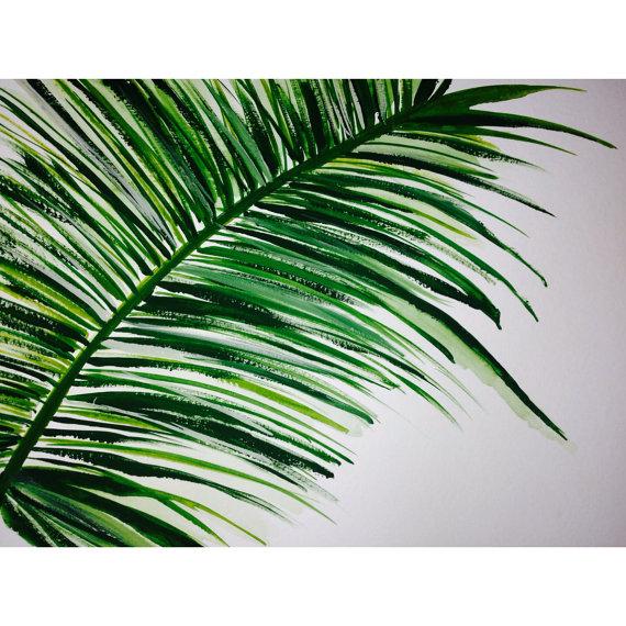 Drawn palm tree abstract #2