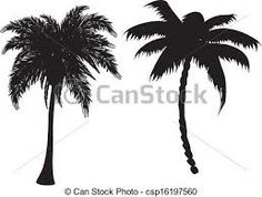 Drawn palm tree black and white #10