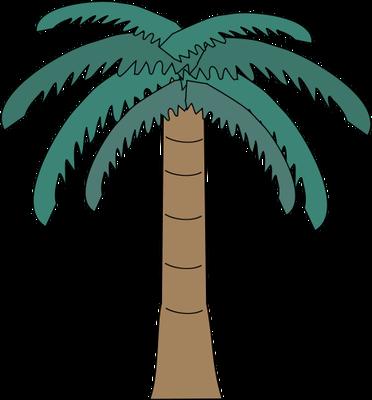 Drawn palm tree rainforest tree #10