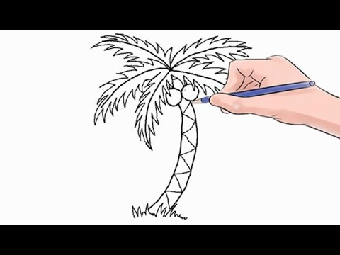 Drawn palm tree simple #3