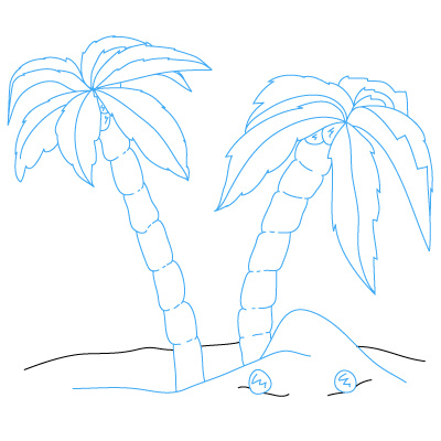 Drawn palm tree simple #8