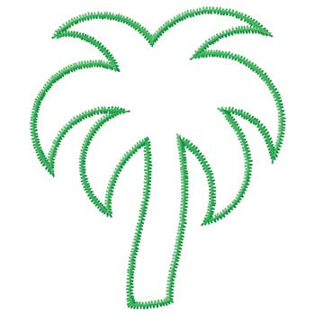 Drawn palm tree stencil Outline tree Palm palm Template