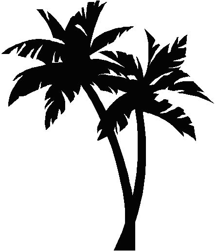 Drawn palm tree stencil And best and this more