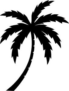 Drawn palm tree stencil Vector Tree idea tree 8531