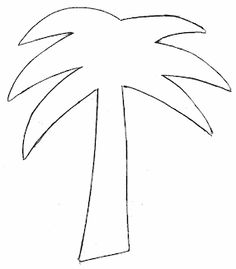 Drawn palm tree stencil Template tree Palm palm pattern