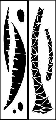 Drawn palm tree stencil Stencil palm 1 Tree stencil