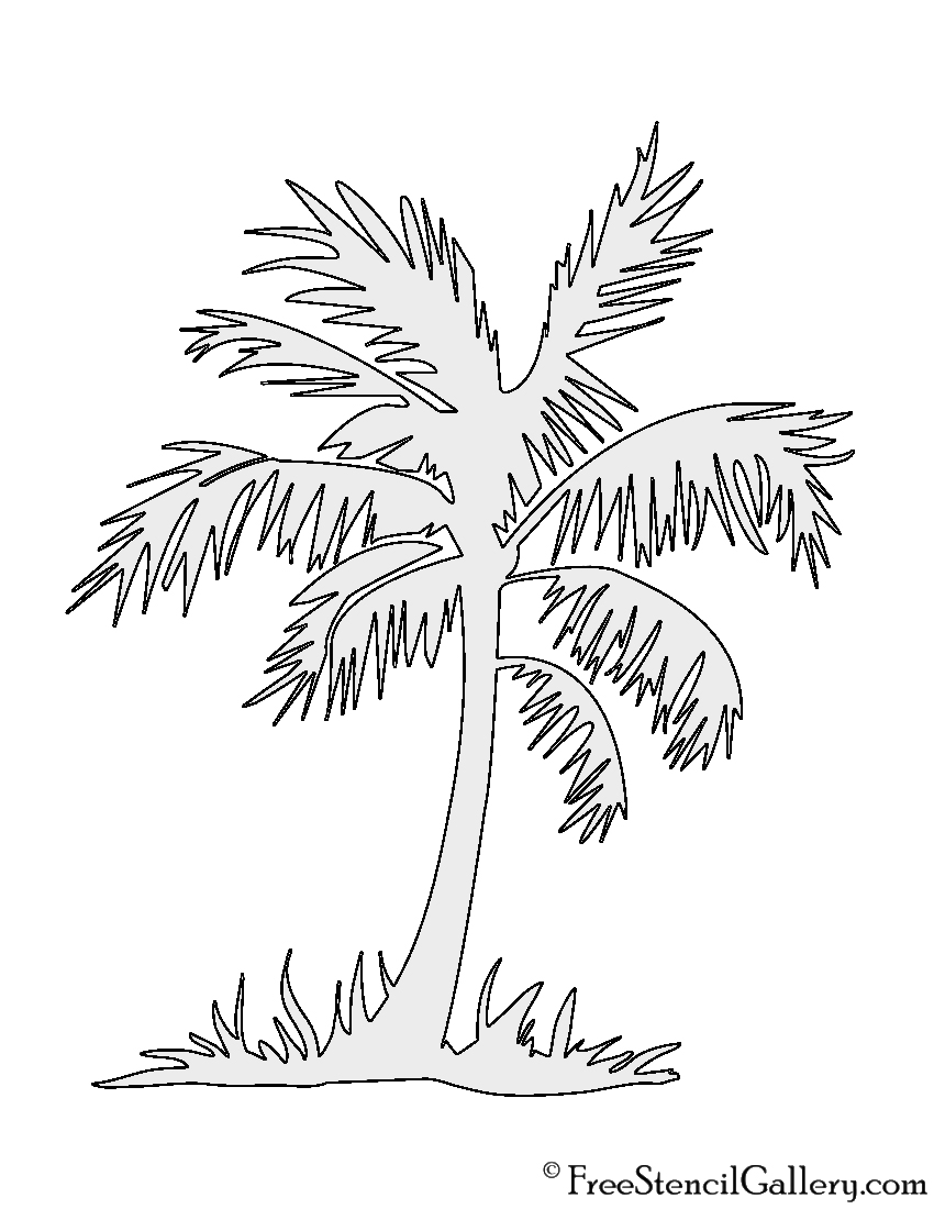 Drawn palm tree stencil Palm Tree Tree Palm Free