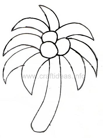 Drawn palm tree stencil Great pattern summer palm free