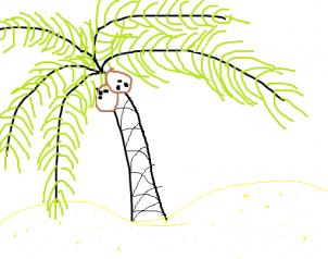 Drawn palm tree step by step #11