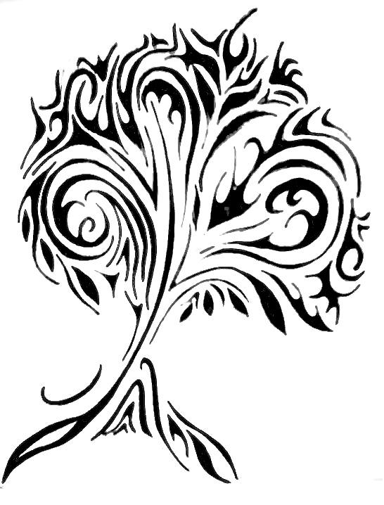 Drawn palm tree tribal Tree Designs Ideas Tattoos Stencil
