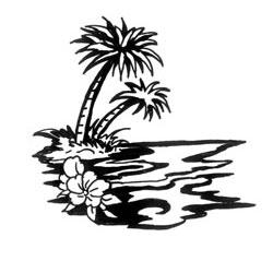 Drawn palm tree tribal Ink Tattoo Palm Tree &