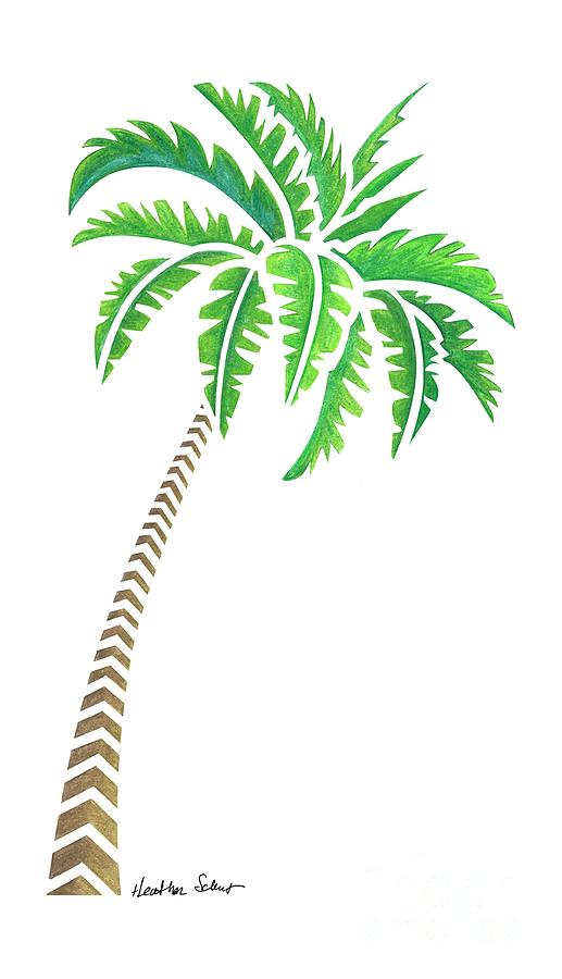 Drawn palm tree tribal Drawing by Schaefer Tree Tree
