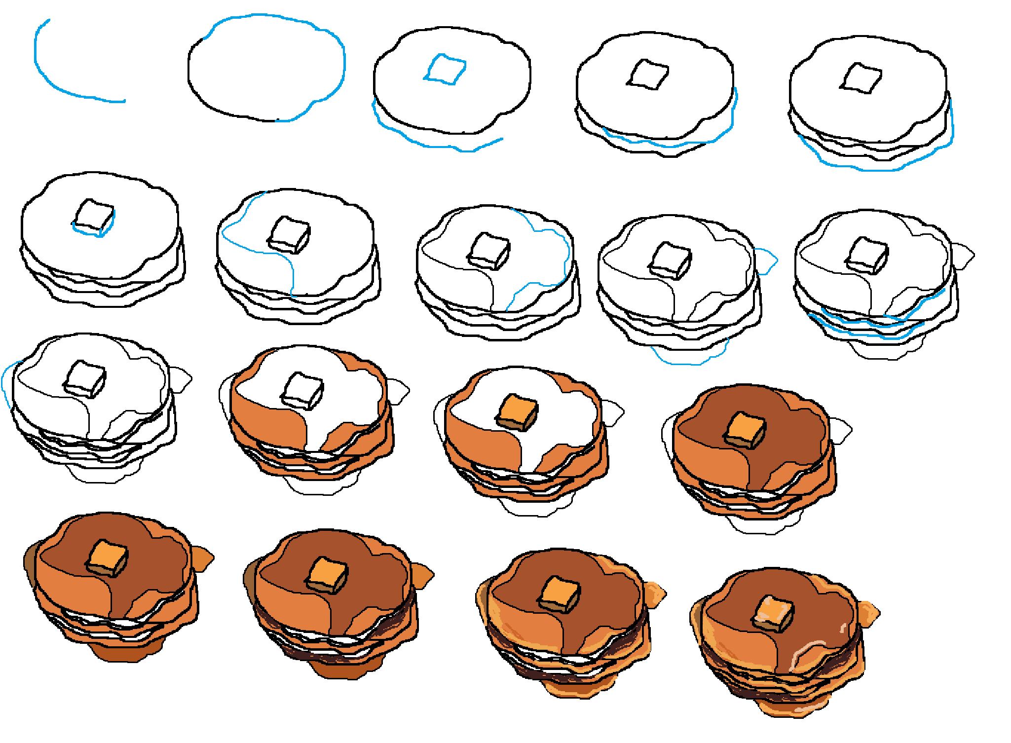 Drawn pancake Thiebaud Wayne How Pinterest To