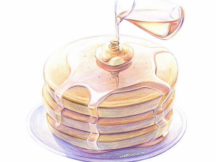 Drawn pancake Pencil Colored ideas Japanese on