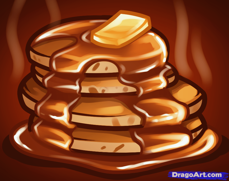 Drawn pancake By Step How Food to