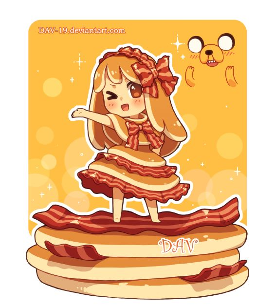 Pancake clipart character Pinterest Bacon 19 by Cartoon