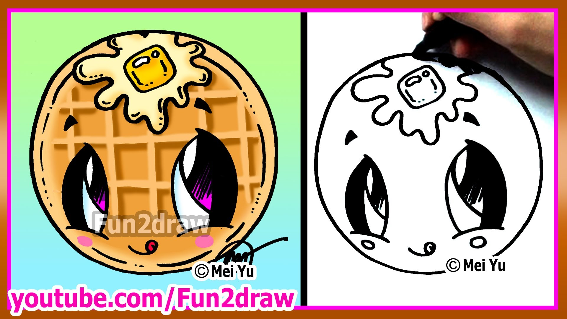 Drawn tacos fun2draw YouTube How Cute Draw Waffle