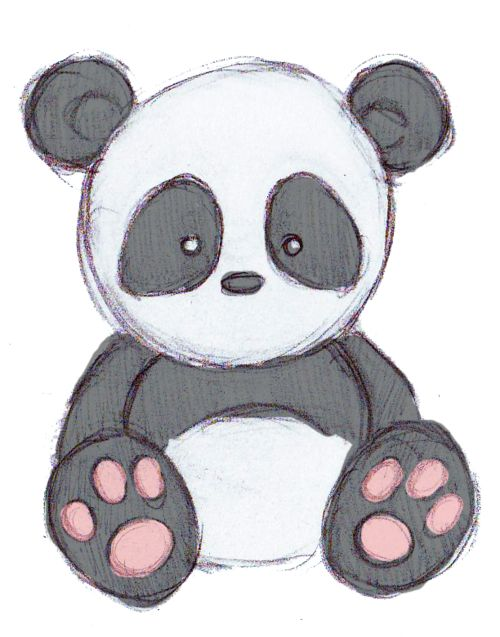 Drawn panda Reporting Drawing Why Cute Pinterest
