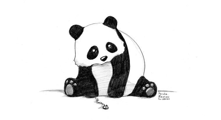 Drawn panda And Art Hey March Puppets!