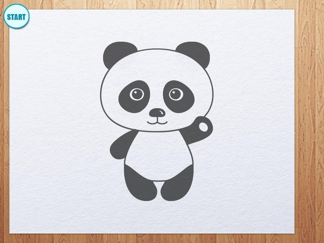 Drawn panda Is to panda  YouTube