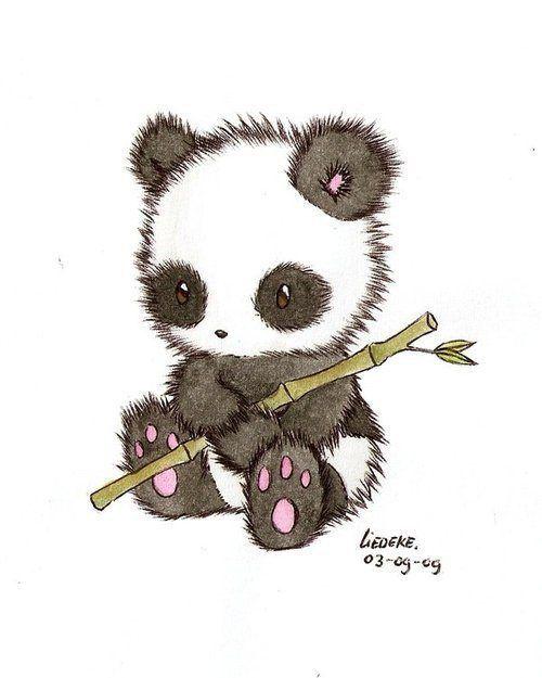 Drawn panda (31 ideas art around Bits