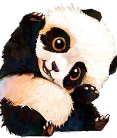 Drawn panda art To talk finally tell my
