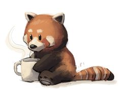 Drawn red panda cartoon Ryan! deviantart and Pinterest panda