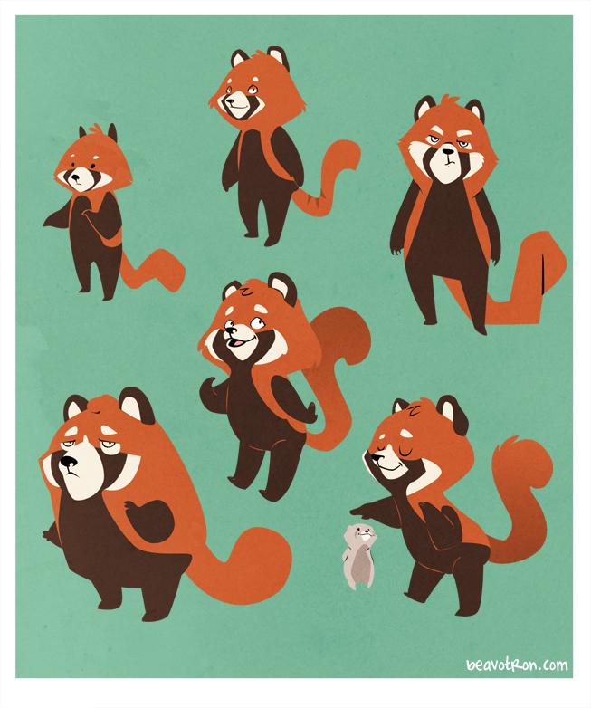 Drawn red panda sheet By Art $15 deviantART Panda