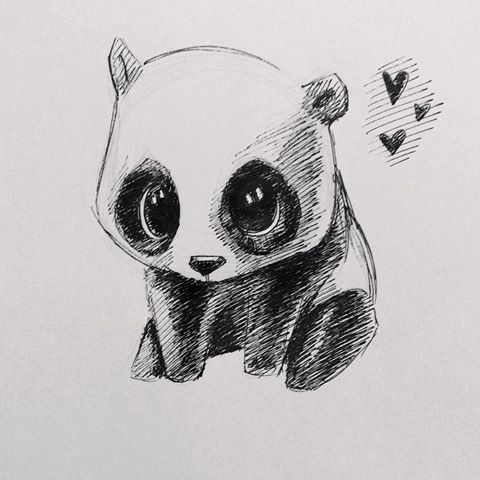 Drawn panda cute lil Chloe and I'd cartoon in
