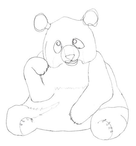 Drawn panda detail Draw Panda to a Bear