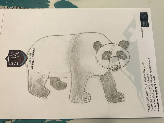 Drawn panda one color Uploaded wikiHow 4 How (with