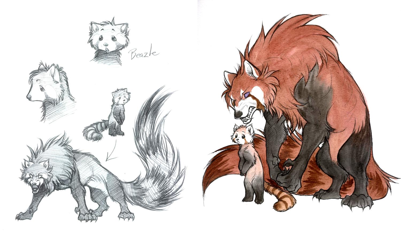 Drawn red panda furry Red photo#25 panda drawing Panda