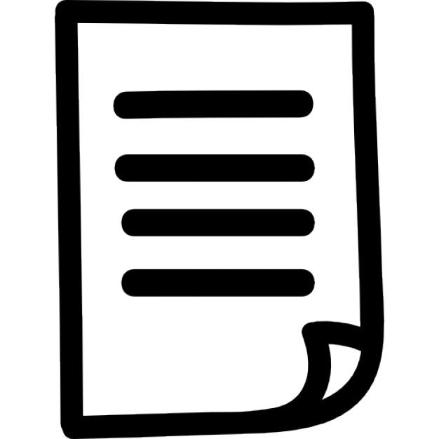 Drawn paper person Paper symbol Icon hand Free