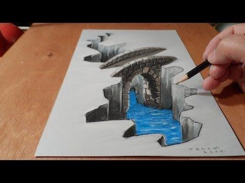 Drawn paper 3d art 3D Pinterest a Best Trick