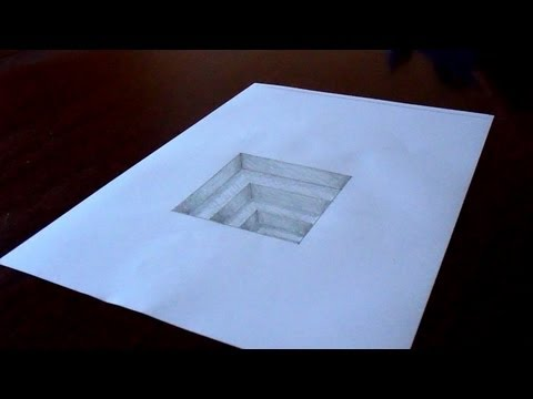 Drawn paper 3d art Draw In Timelapse Hole Amazing