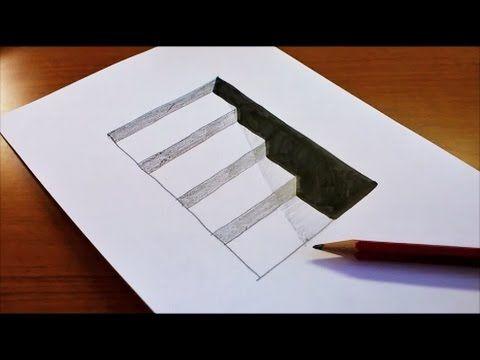 Drawn paper 3d art 3d 3D Best Draw Kids