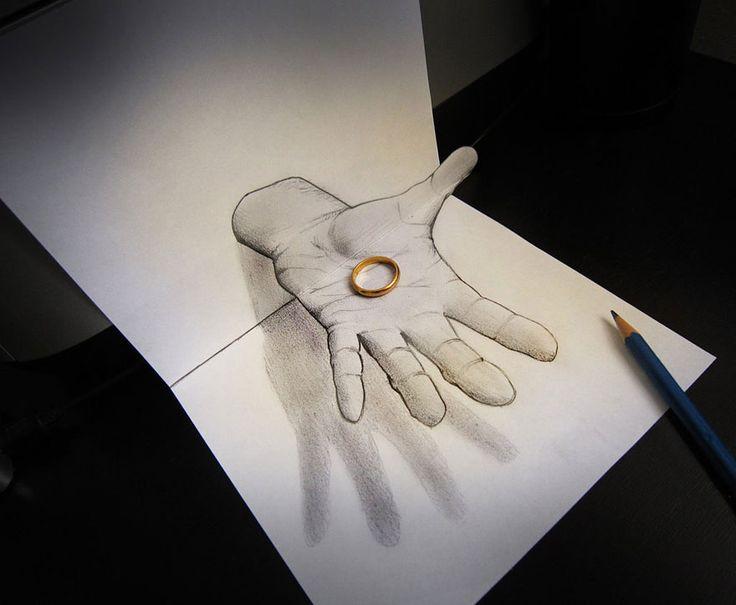 Drawn paper 3d art Pinterest 3D Drawings migliori 25+