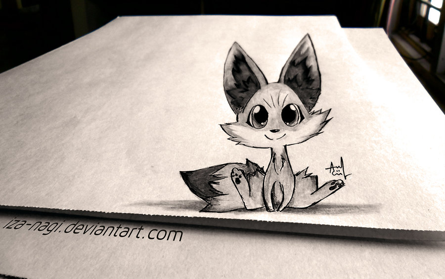 Drawn 3d art paper Blowing Mind PAPER FENNEKIN com