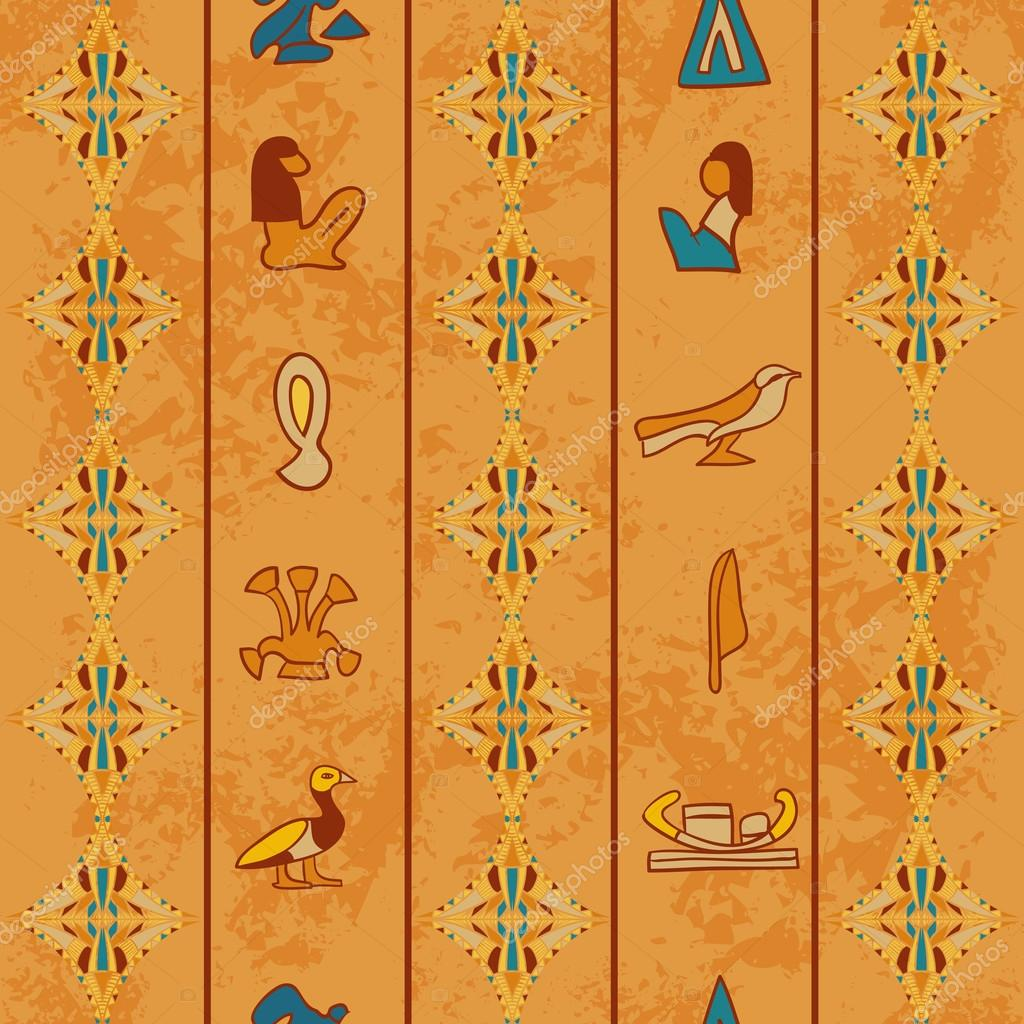 Drawn paper ancient Vector Egypt ancient by Egyptian