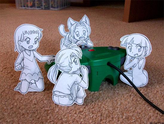 Drawn paper anime #8